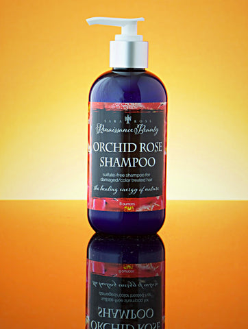 Orchid Rose Shampoo. For normal to dry hair. 8 ounces.