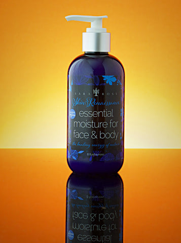 Essential Moisture for Face and Body. 8 ounces.