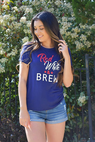 Red White & Brew Tee