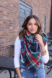 Cozy Love Blanket Scarf in Navy