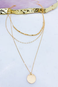Jodi Layered Coin Necklace in Gold