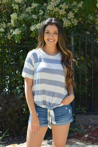 Maya Striped Tie Top