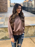 Simply Sweet Corduroy Ruffle Top