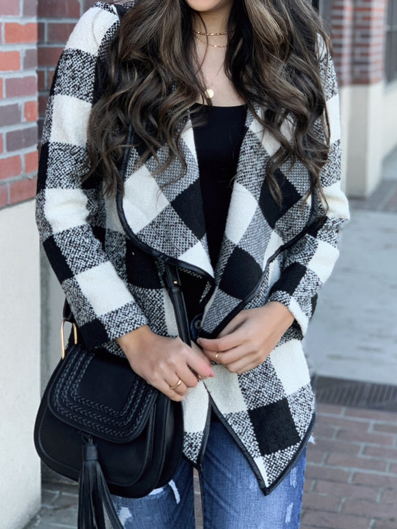Winter Wonderland Buffalo Plaid Sweater