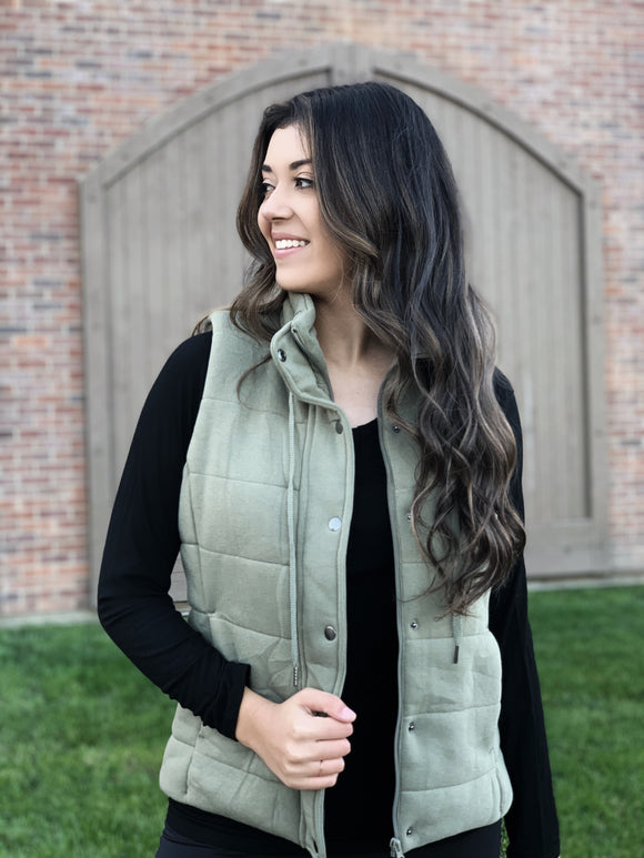 We Can Go The Distance Olive Vest
