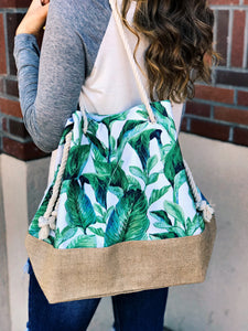 Fiji Palms Bucket Bag