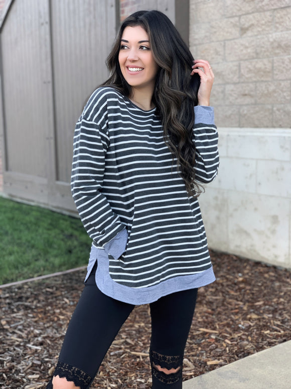 Casual Nights Striped Top