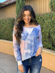 Walk This Way Tie Dye Top