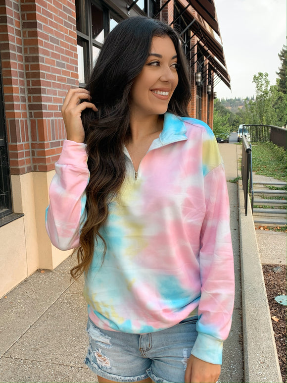 Dream On Tie Dye Pullover