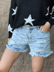 Jamie Distressed Denim Shorts