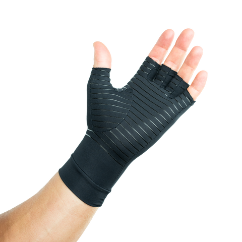 Arthritis & Carpal Tunnel Compression Gloves Infused With Copper (Pair) for Men and Women (Unisex)