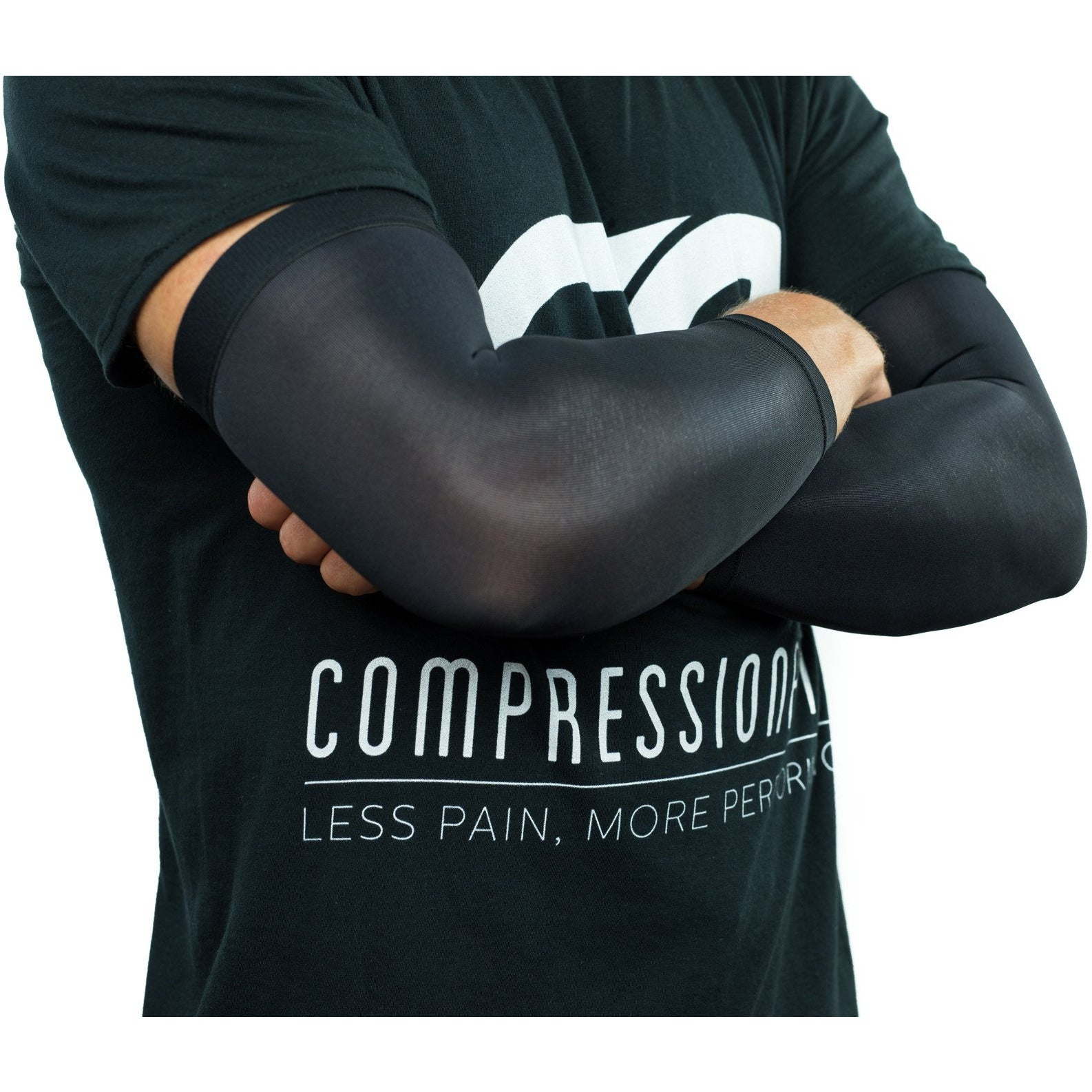 Arthritis Compression Elbow Sleeves / Supports / Braces Infused With Copper (Pair) for Men and Women (Unisex)