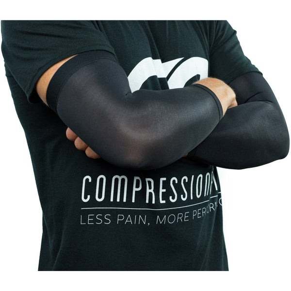 Compression Elbow Sleeves / Supports / Braces Infused With Copper (Pair) for Men and Women (Unisex)