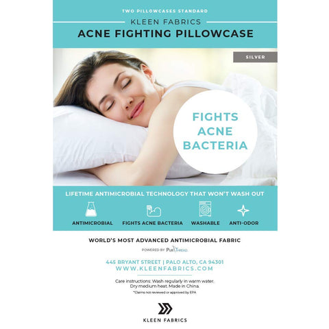 Kleen ACNE Fighting Pillowcase 2 Pack