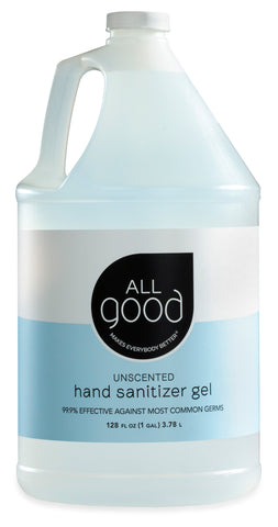 Four Pack of 1 Gallon Jugs All Good Gel Hand Sanitizer