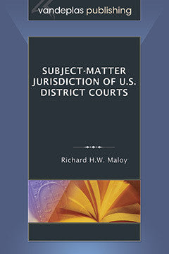 SUBJECT-MATTER JURISDICTION OF U.S. DISTRICT COURTS