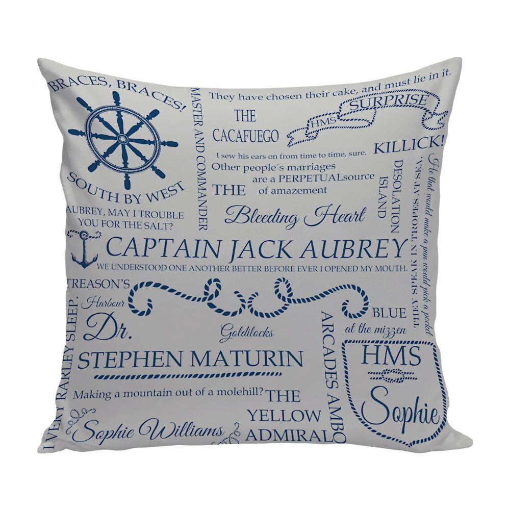 Aubreyad Typography 14x14 Pillow