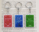 Jane Austen Book Acrylic Figure Keychain - Consulting Fangeeks - 1