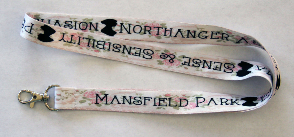 Jane Austen Books Literature Lanyard