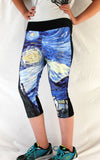 Starry Night Stretchy Workout Pants - Consulting Fangeeks - 1