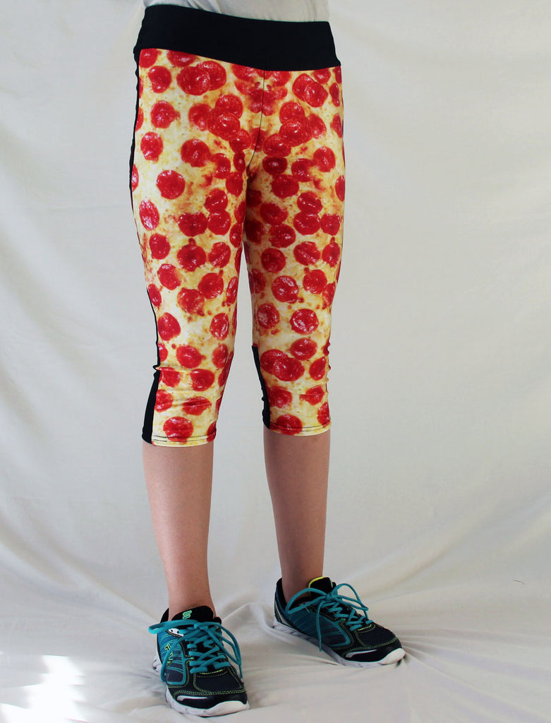 Pepperoni Pizza Stretchy Workout Pants