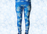Frozen Snowflake Stretchy Geek Leggings - Consulting Fangeeks - 2