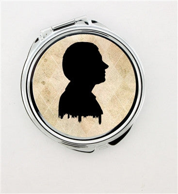 """John Watson Silhouette"" Foldable Hand Mirror - Consulting Fangeeks - 1"