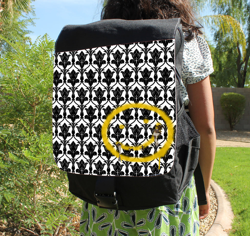Bored! Smiley Canvas Backpack
