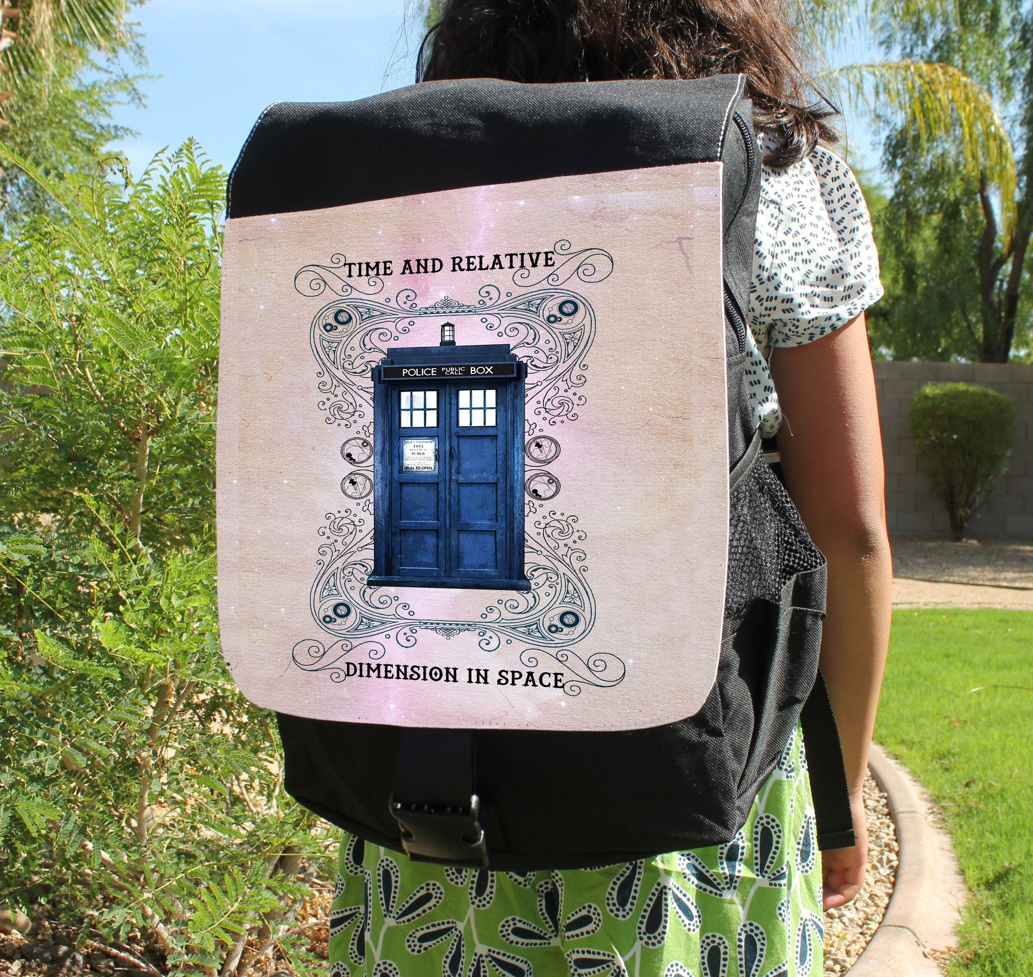 Grunge Police Box Canvas Backpack - Consulting Fangeeks - 1