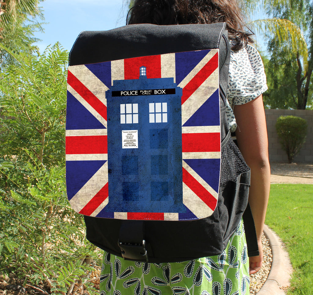 Police Box in London Canvas Backpack