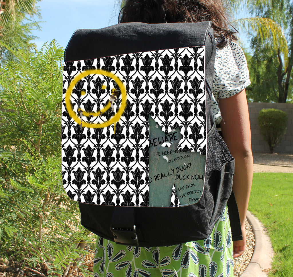 Bored & Beware! Canvas Backpack