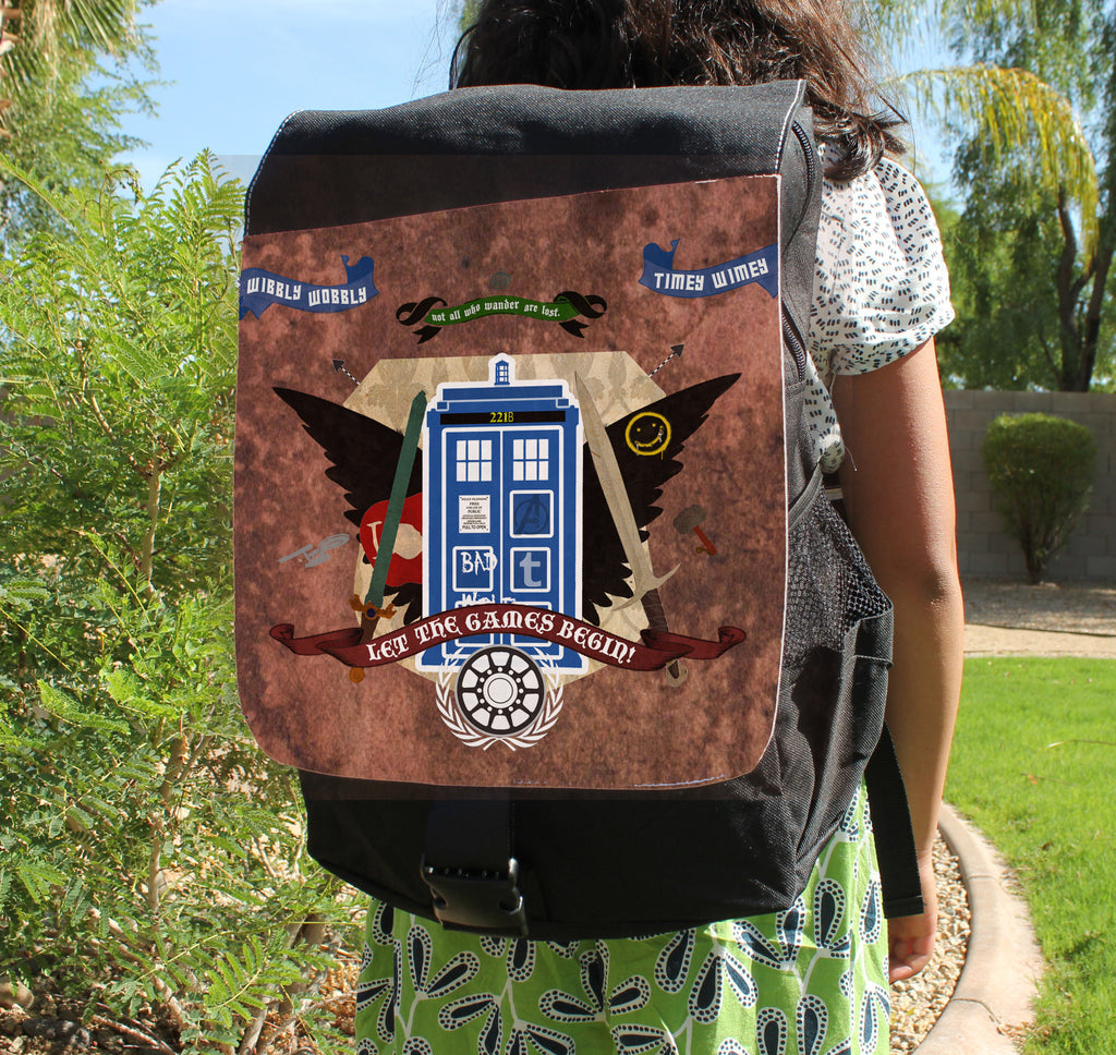 Crest of the Fandoms Canvas Backpack
