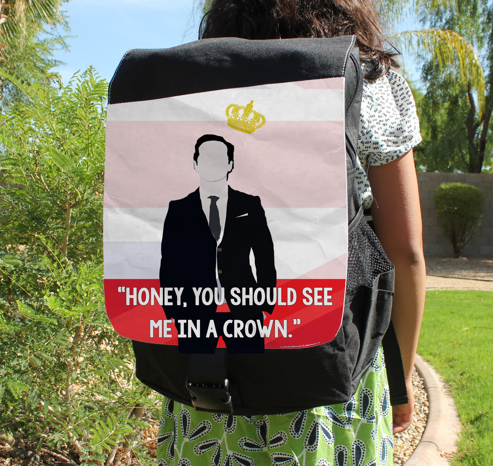 See Me in a Crown Canvas Backpack - Consulting Fangeeks - 1