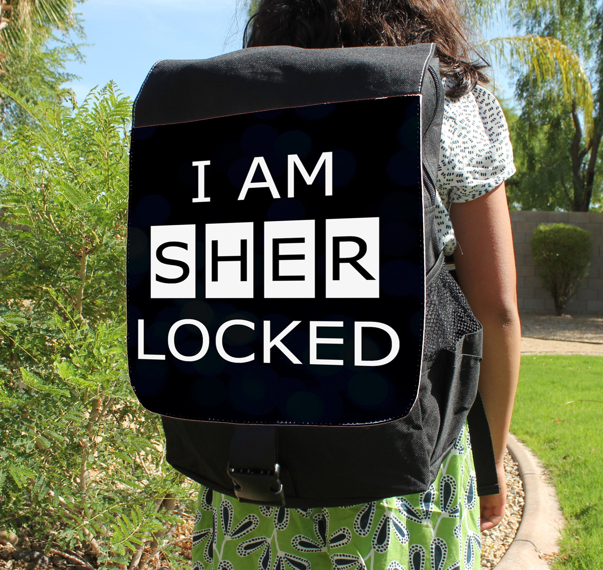 I Am Sherlocked Canvas Backpack - Consulting Fangeeks - 1