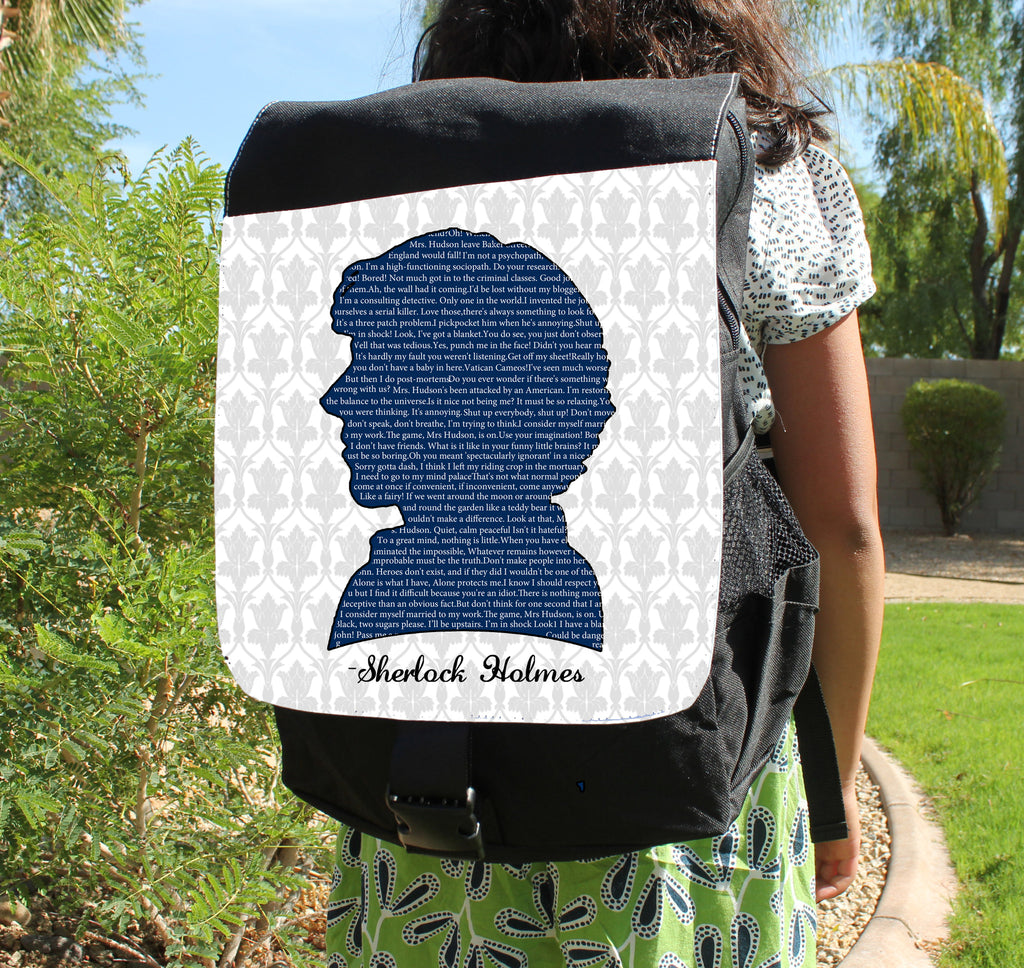 Sherlock Quotes Canvas Backpack