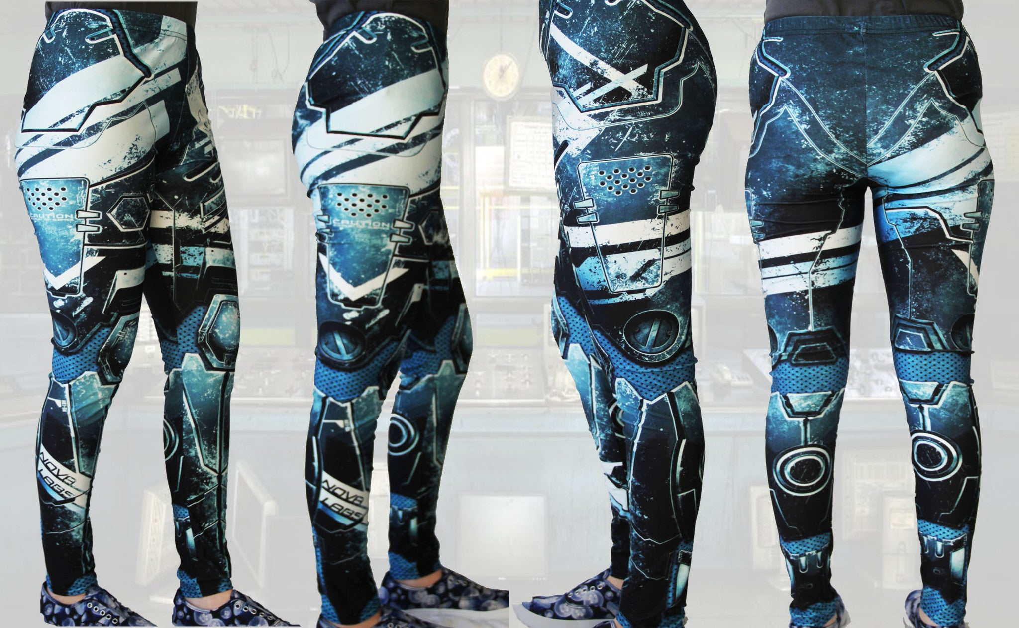 Animated Metal Armour Stretchy Geek Leggings - Consulting Fangeeks - 2