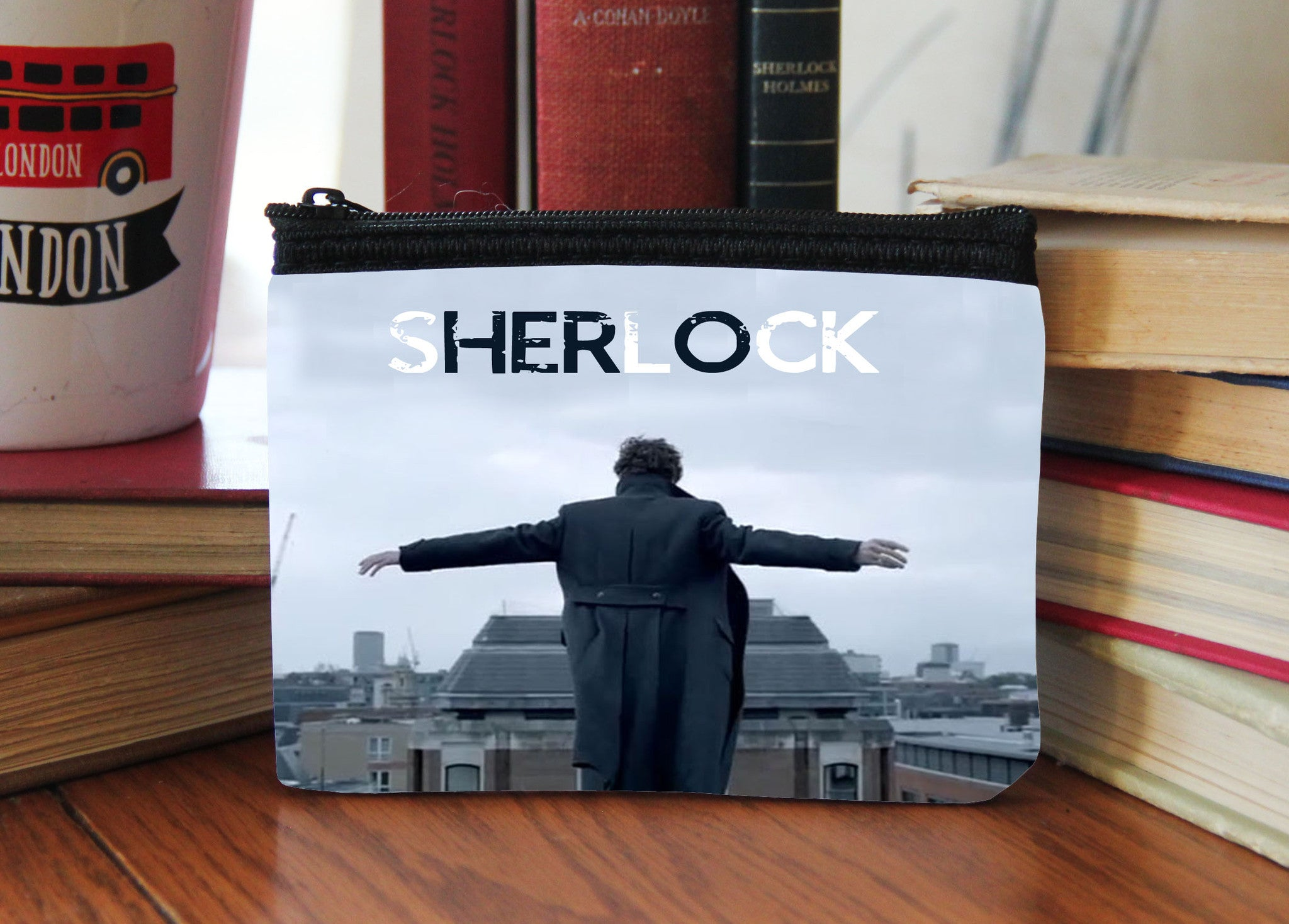 """Hero Reichenbach Feels"" Neoprene Coin Purse - Consulting Fangeeks - 1"