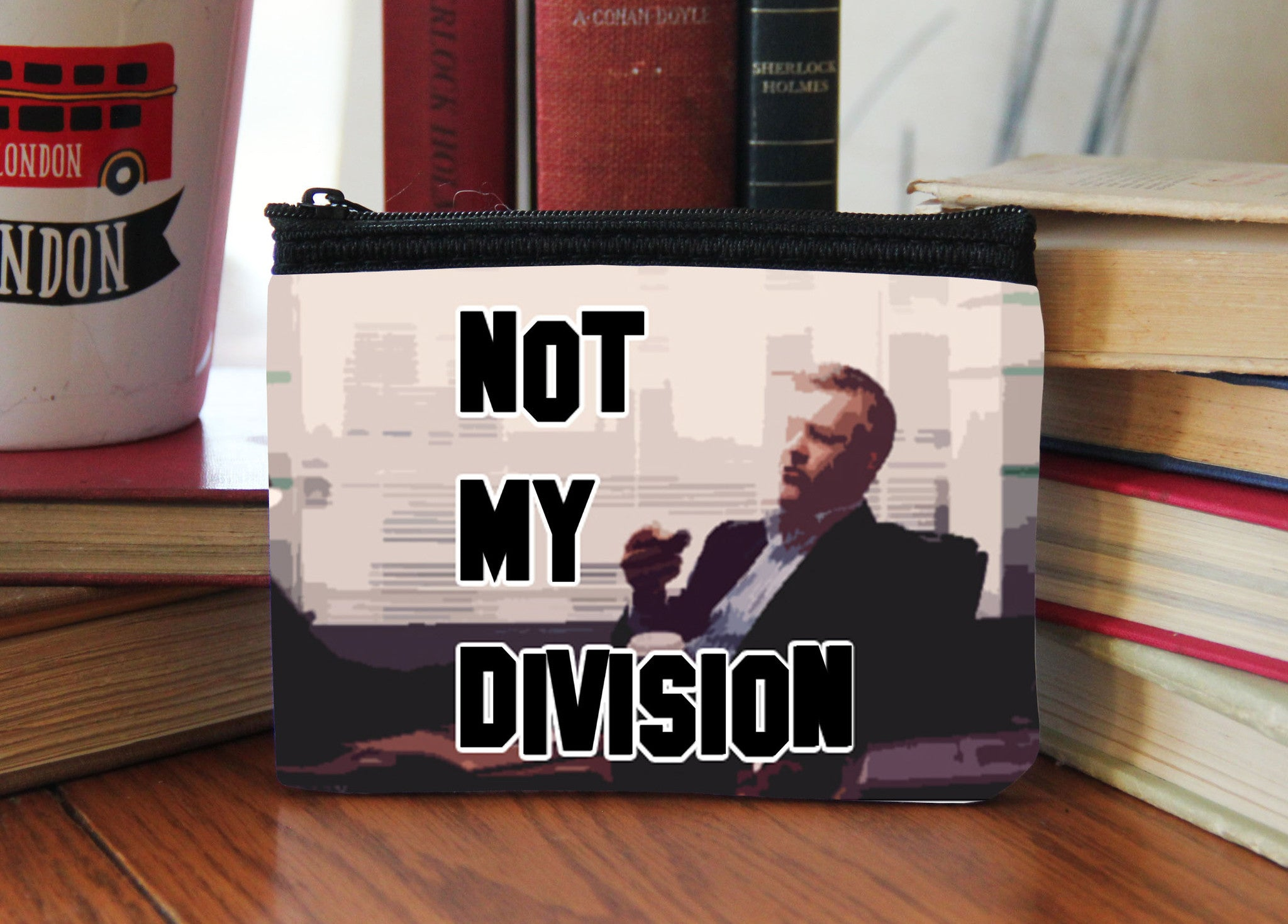 """Not My Division"" Neoprene Coin Purse - Consulting Fangeeks - 1"