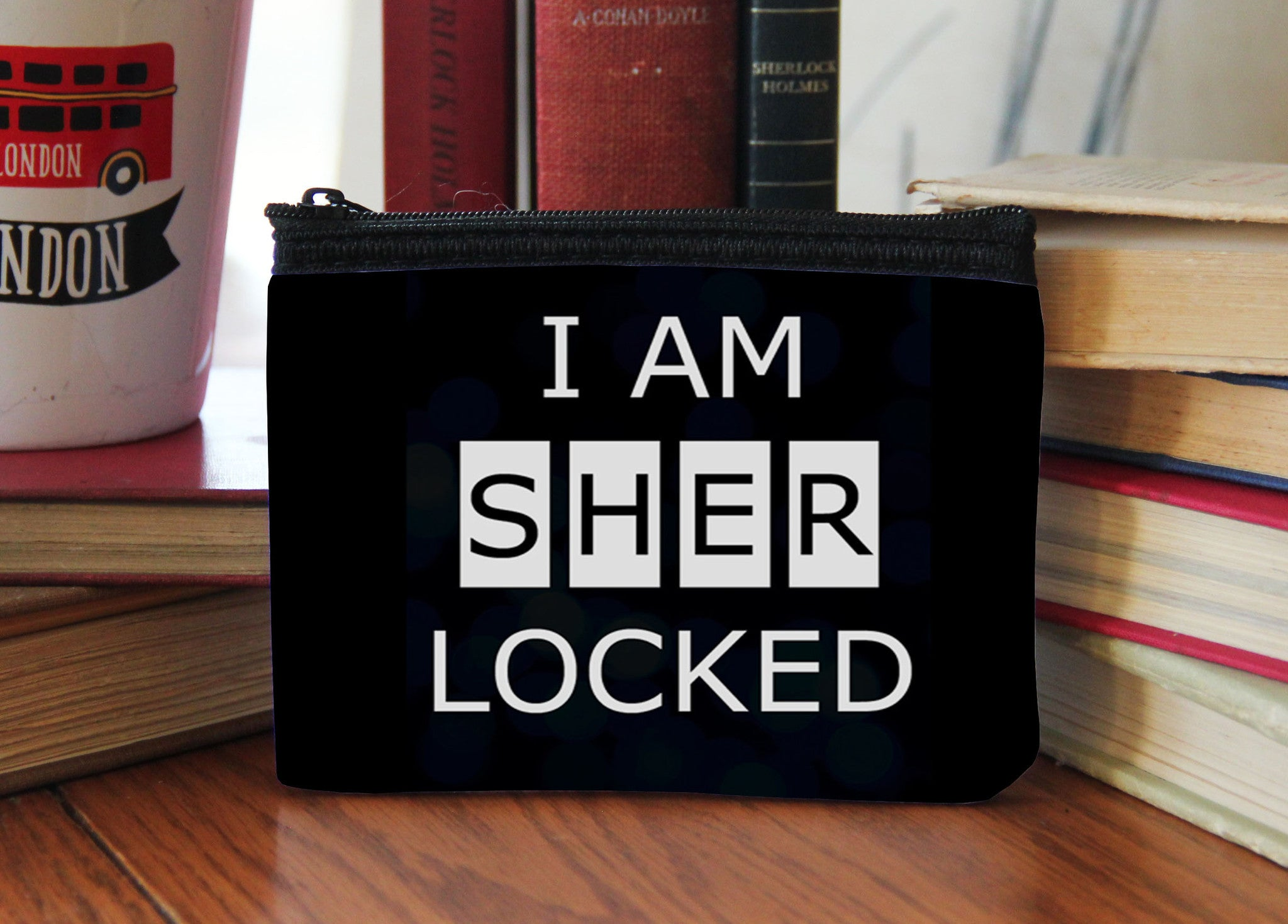 """I Am SHERlocked"" Neoprene Coin Purse - Consulting Fangeeks - 1"