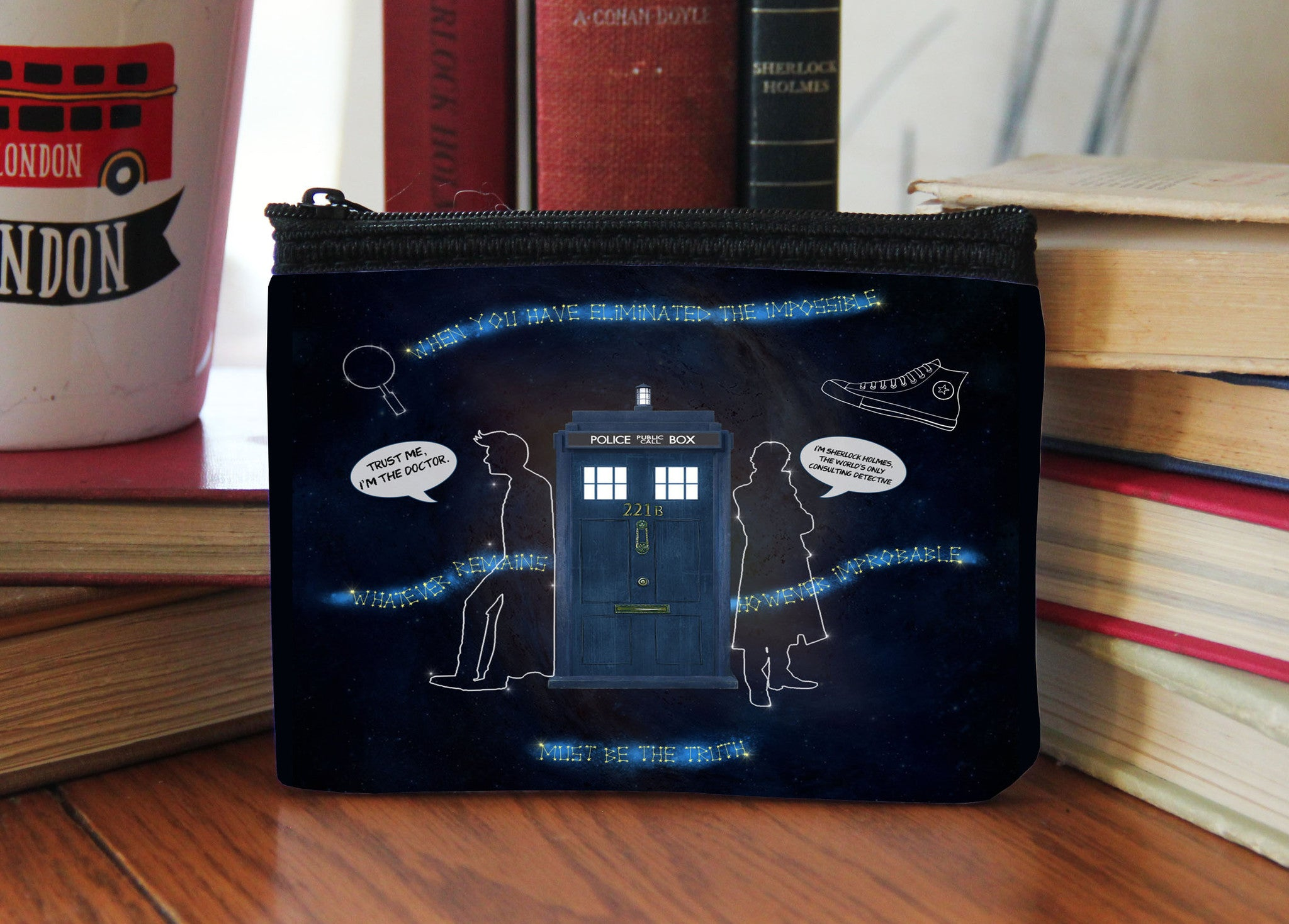 """Wholocked The Police Box"" Neoprene Coin Purse - Consulting Fangeeks - 1"
