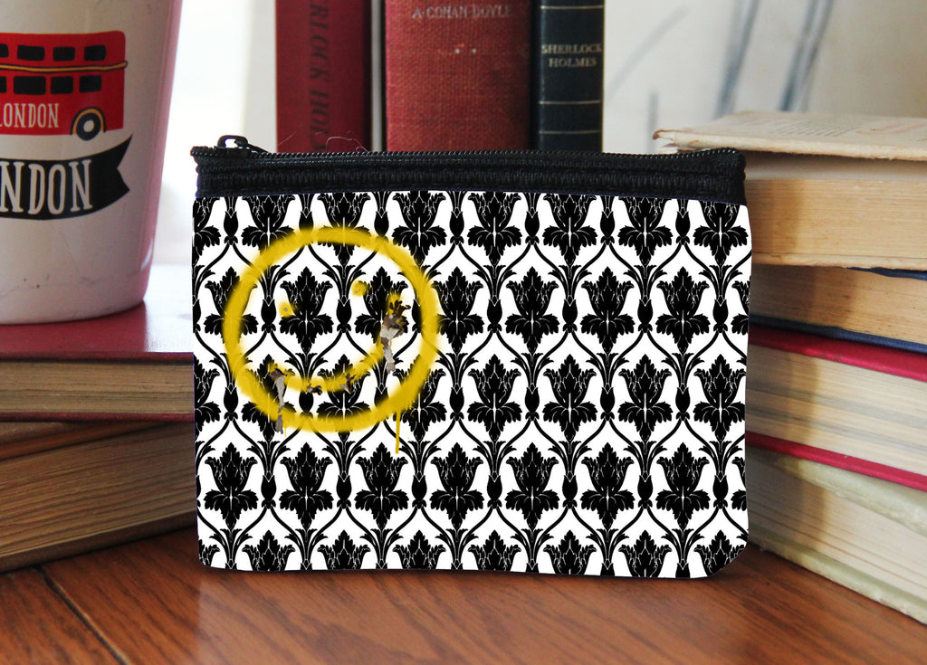 """Bored Smiley"" Neoprene Coin Purse"