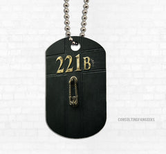 """221B"" Door Metal Dog Tag - Consulting Fangeeks"