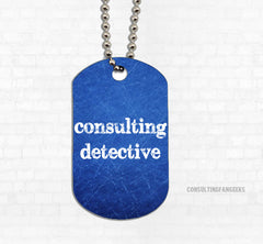 """Consulting"" Metal Dog Tag - Consulting Fangeeks - 1"