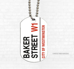 """Baker Street"" Metal Dog Tag - Consulting Fangeeks"