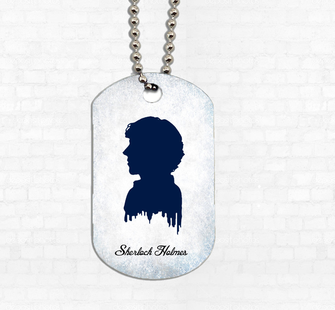 """Sherlock Silhouette"" Metal Dog Tag - Consulting Fangeeks"