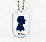 """John Silhouette"" Metal Dog Tag - Consulting Fangeeks"