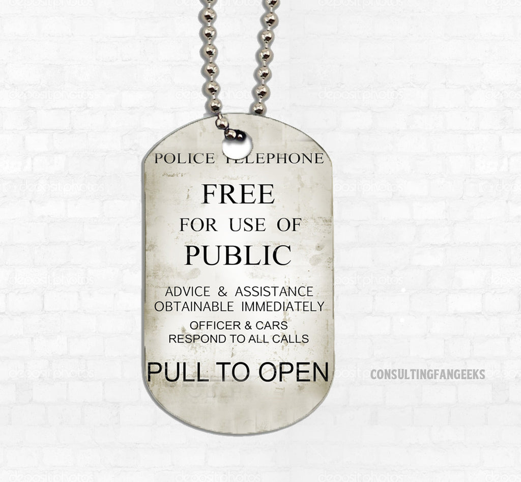 """Pull To Open"" Metal Dog Tag"