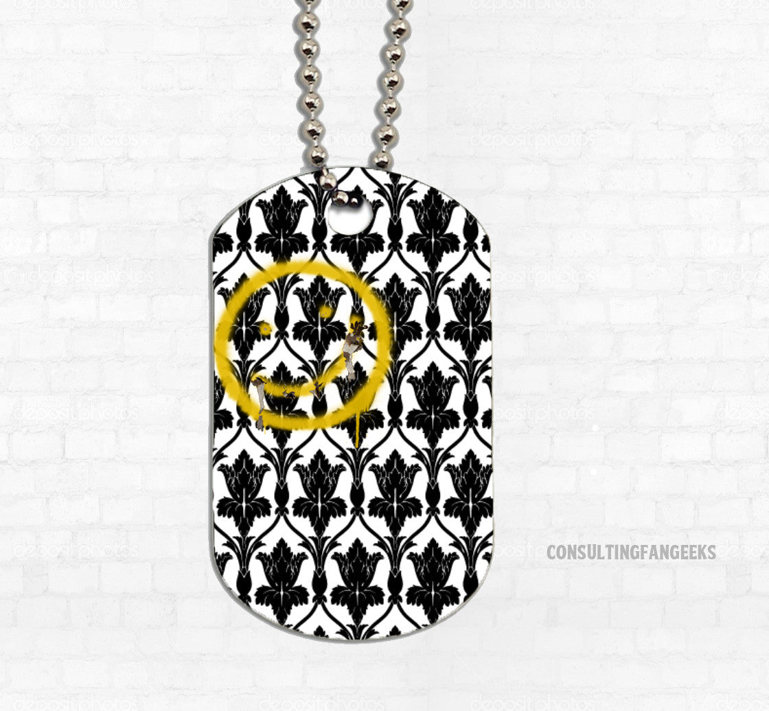 """Bored! Smiley"" Metal Dog Tag - Consulting Fangeeks"