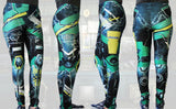 Animated Metal Armour Stretchy Geek Leggings - Consulting Fangeeks - 3