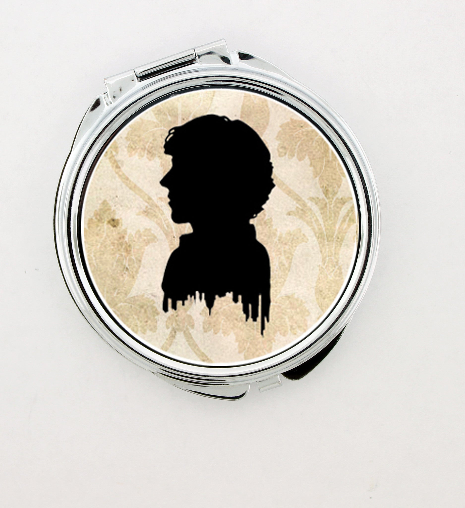 """Sherlock Holmes Silhouette"" Foldable Hand Mirror - Consulting Fangeeks - 1"